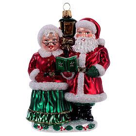 Decorazioni vetro soffiato per albero: Mr e Mrs Santa Claus addobbo vetro soffiato Albero Natale