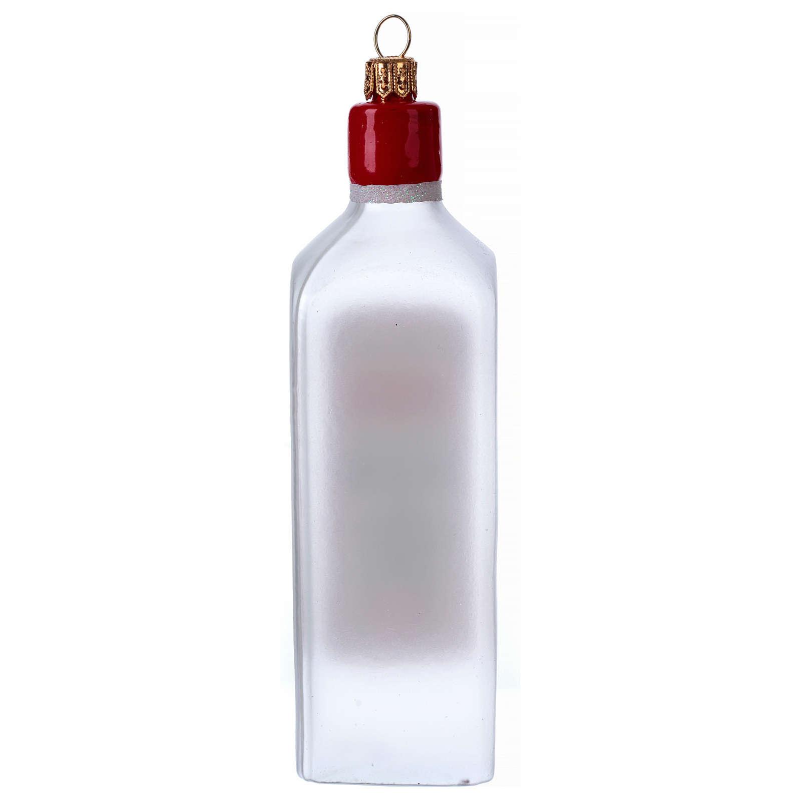 Bouteille de Gin décoration verre soufflé Sapin Noël 4