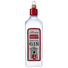 Bouteille de Gin décoration verre soufflé Sapin Noël s1
