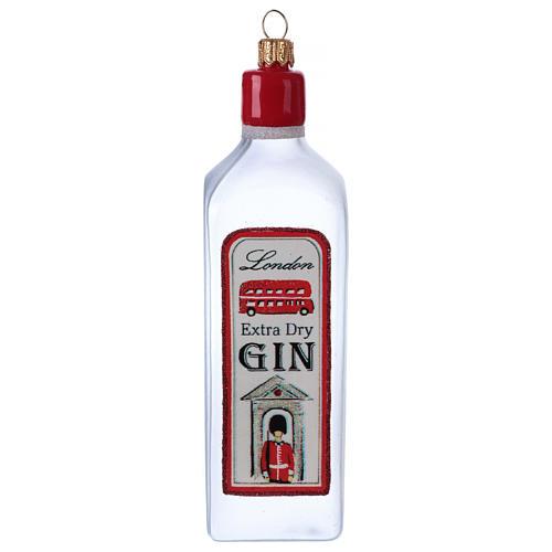 Bouteille de Gin décoration verre soufflé Sapin Noël 1