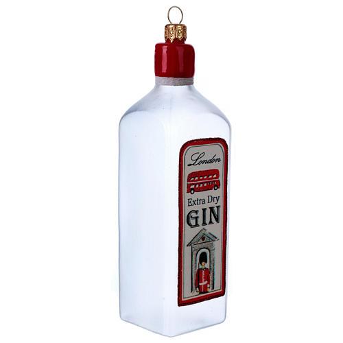 Bouteille de Gin décoration verre soufflé Sapin Noël 2