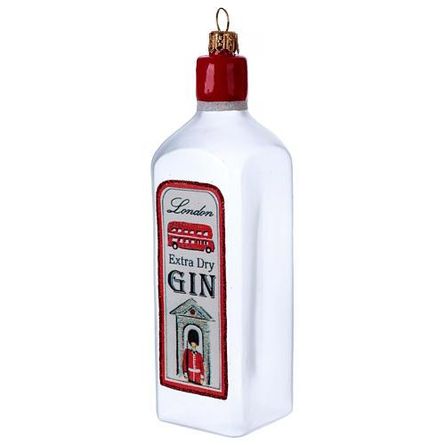 Bouteille de Gin décoration verre soufflé Sapin Noël 3