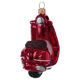 Scooter décoration sapin de Noël verre soufflé s4