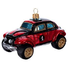 Buggy Car, blown glass Christmas ornament s2
