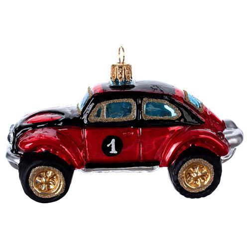 Buggy Car, blown glass Christmas ornament 1
