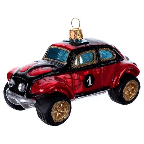 Buggy Car, blown glass Christmas ornament 2