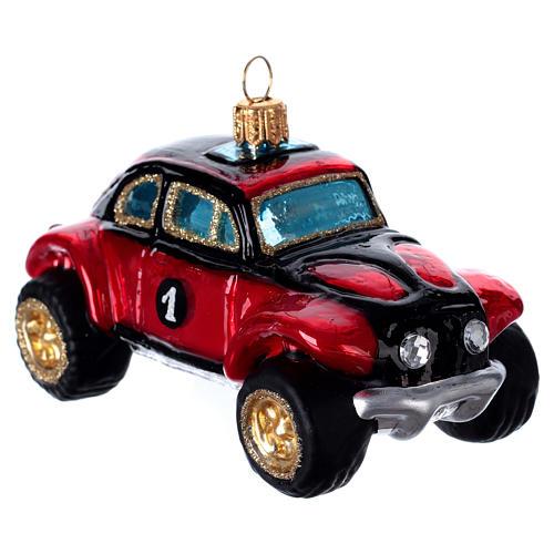 Buggy Car, blown glass Christmas ornament 3