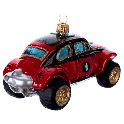 Buggy Car, blown glass Christmas ornament 4