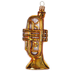 Blown glass ornaments: Trumpet in blown glass for Christmas Tree