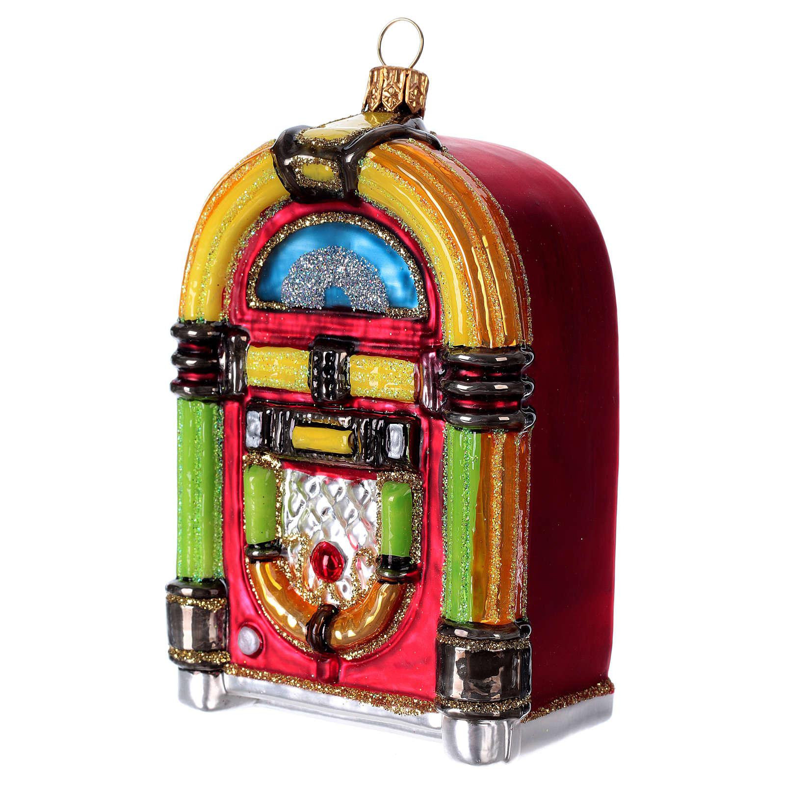Jukebox, blown glass Christmas ornament 4