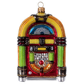Jukebox, blown glass Christmas ornament s1