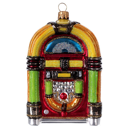 Jukebox, blown glass Christmas ornament 1
