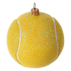 Tennis ball in blown glass for Christmas Tree s1