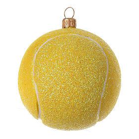 Pelota de ténis decoración vidrio soplado árbol Navidad s2
