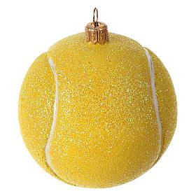 Palla da tennis decorazione vetro soffiato Albero Natale s1