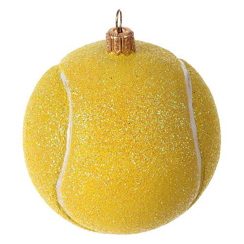 Palla da tennis decorazione vetro soffiato Albero Natale 1