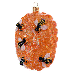 Beehive structure in blown glass for Christmas Tree s2