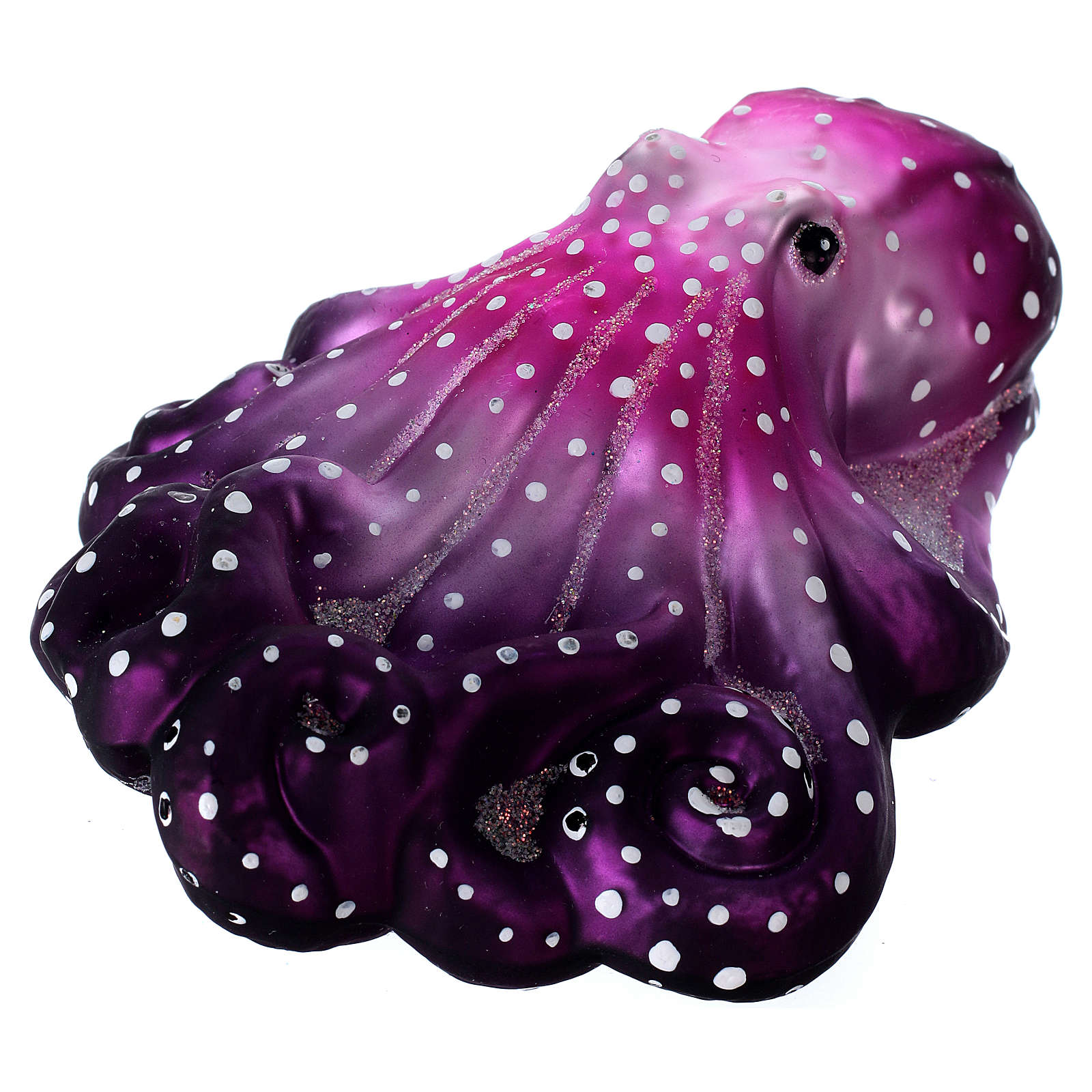 Purple octopus in blown glass for Christmas Tree 4