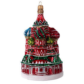St. Basil's Cathedral of Moscow in blown glass for Christmas Tree s2