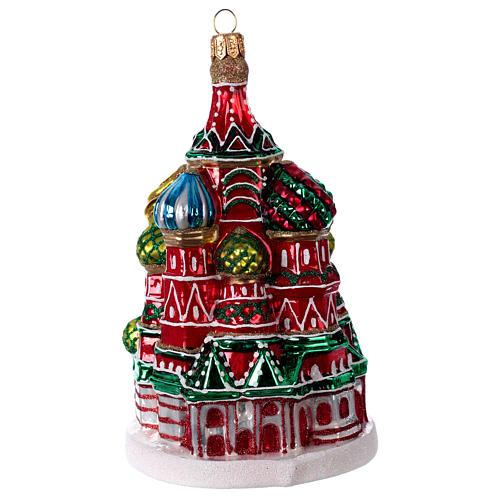 Catedral de São Basílio de Moscou enfeite vidro soprado para Natal 1