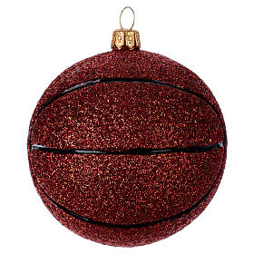 Basket ball in blown glass for Christmas Tree s1