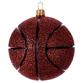Basket ball in blown glass for Christmas Tree s2