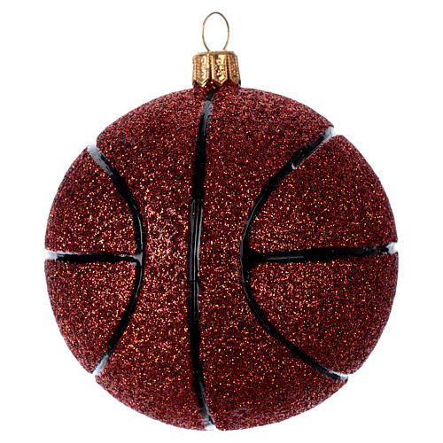 Basket ball in blown glass for Christmas Tree 2
