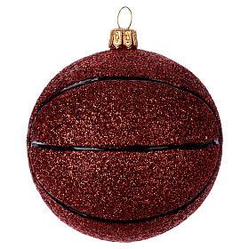 Blown glass Christmas ornament, basketball s1