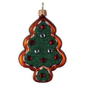 Decorazioni vetro soffiato per albero: Albero di pan di zenzero vetro soffiato Albero di Natale