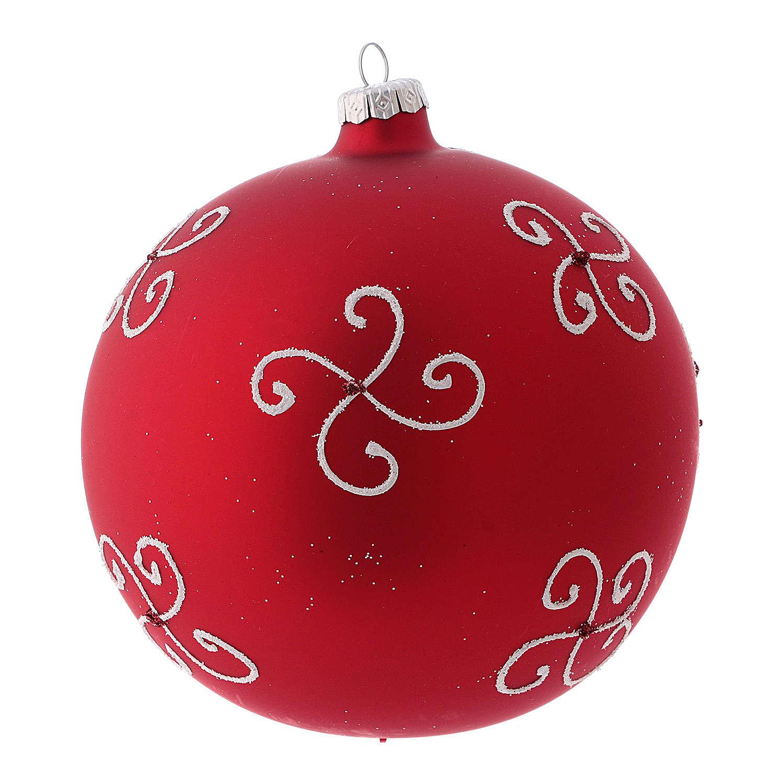 Bola de Navidad rojo vidrio soplado niña a la ventana 150 mm 4