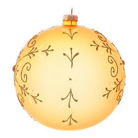 Bola de Navidad de vidrio soplado con motivos purpurina 150 mm s2
