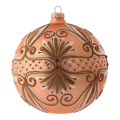 Pallina di Natale in vetro soffiato colore rosé 150 mm 1