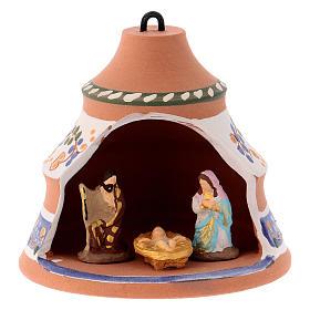 Bola forma de pino de cerámica pintada Deruta natividad 10x10x10 cm s1
