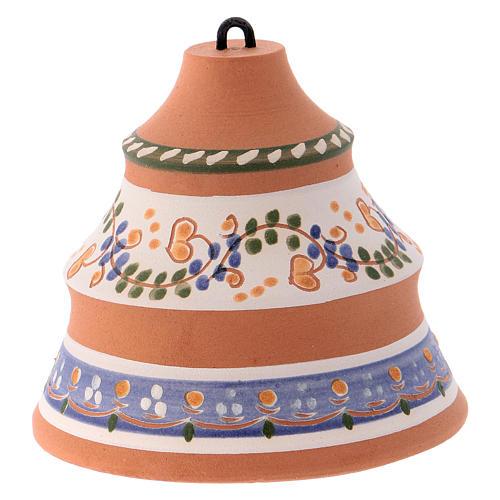 Bola forma de pino de cerámica pintada Deruta natividad 10x10x10 cm 3