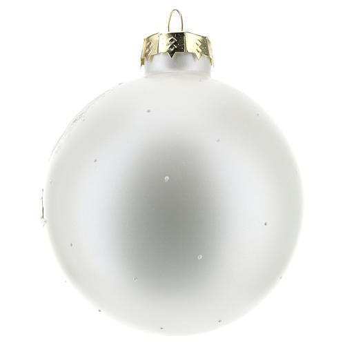 Bola de Navidad con paisaje invernal 80 mm 3