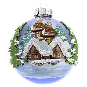 Pallina albero Natale natalizia blu 80 mm  s1