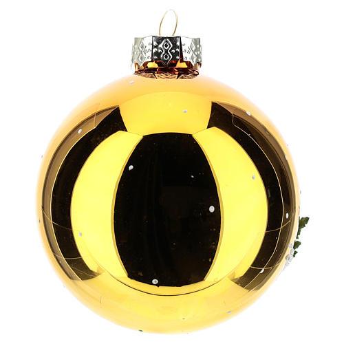 Palla oro con paesaggio invernale 80 mm    3