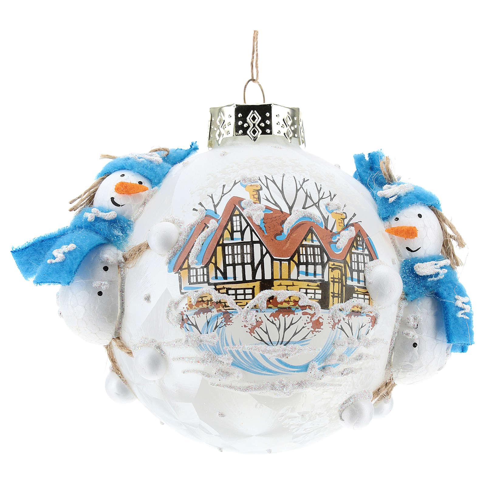 Ball with snowmen 8 cm 4