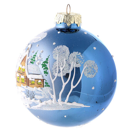 Christmas ball with landscape 8 cm 3