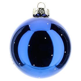 Bola de Navidad con Virgen y Niño 80 mm s3