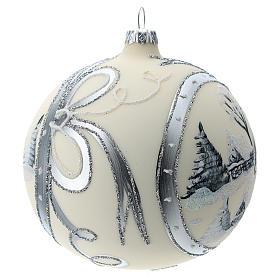 Bola de Navidad de 120 mm decorada con paisaje nevado s3