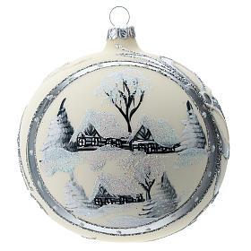 Bola de Navidad de 120 mm decorada con paisaje nevado s4