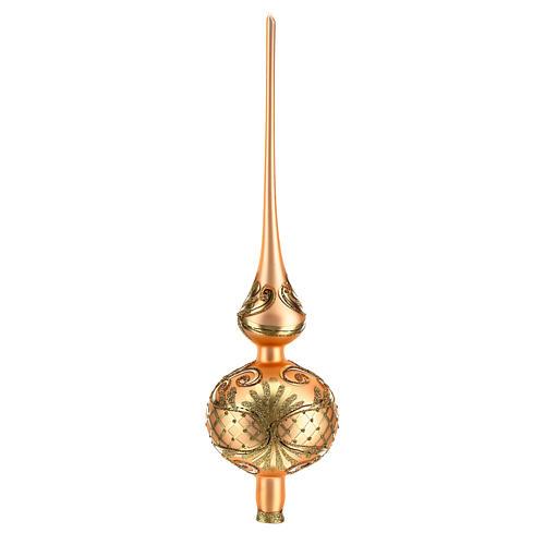 Puntale di colore rosa decorato con oro 4