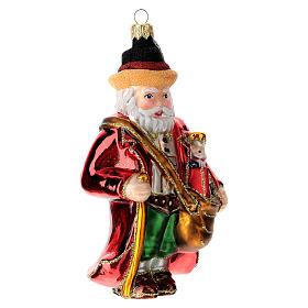 Papá Noel alemán adorno árbol navidad vidrio soplado s3