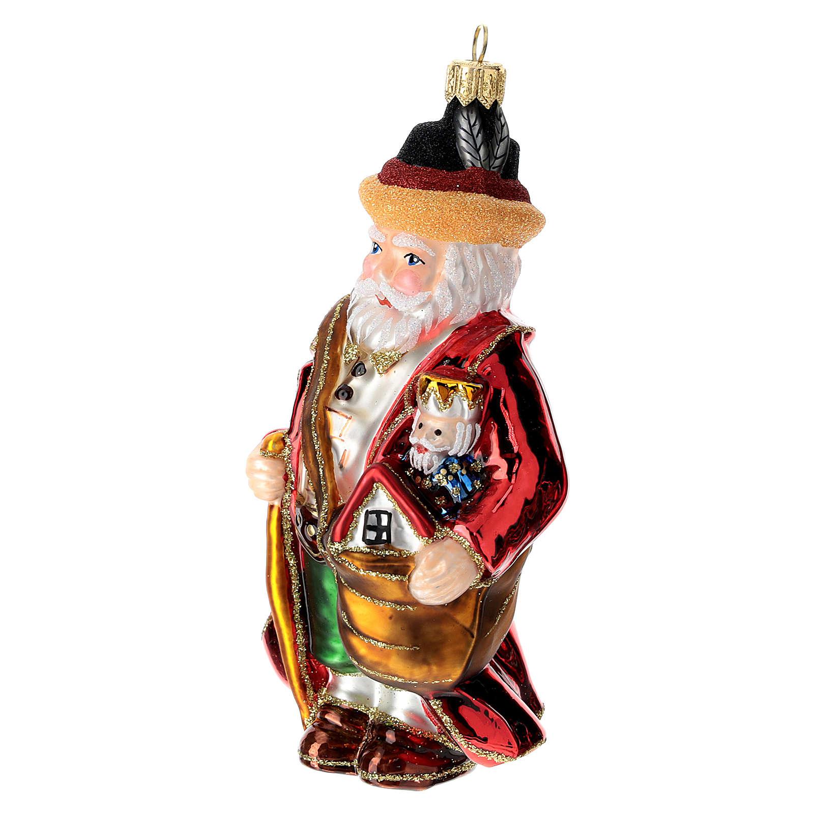 Père Noël allemand sapin Noël verre soufflé 4