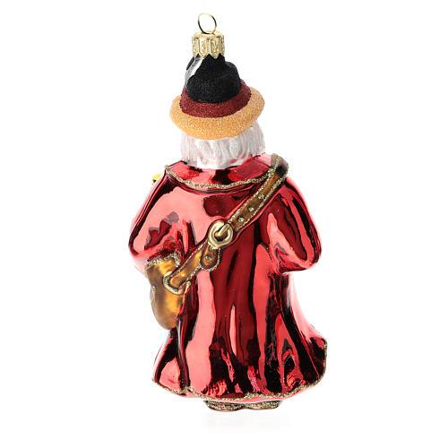 German Santa Claus blown glass Christmas tree ornament 4