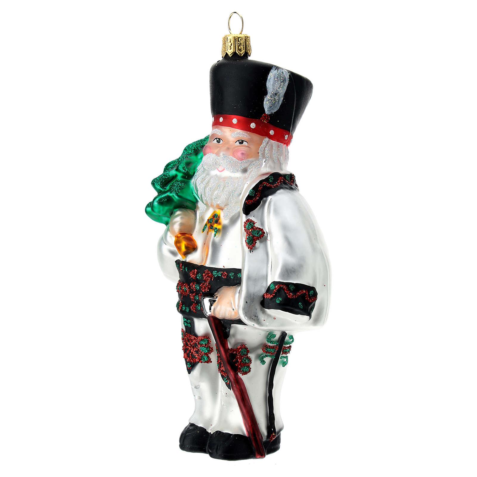 Blown glass Christmas ornament, Santa Claus in Poland 4