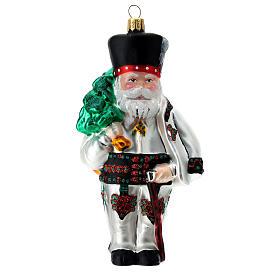 Père Noël polonais verre soufflé décoration sapin Noël s1