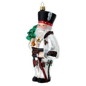Père Noël polonais verre soufflé décoration sapin Noël s2