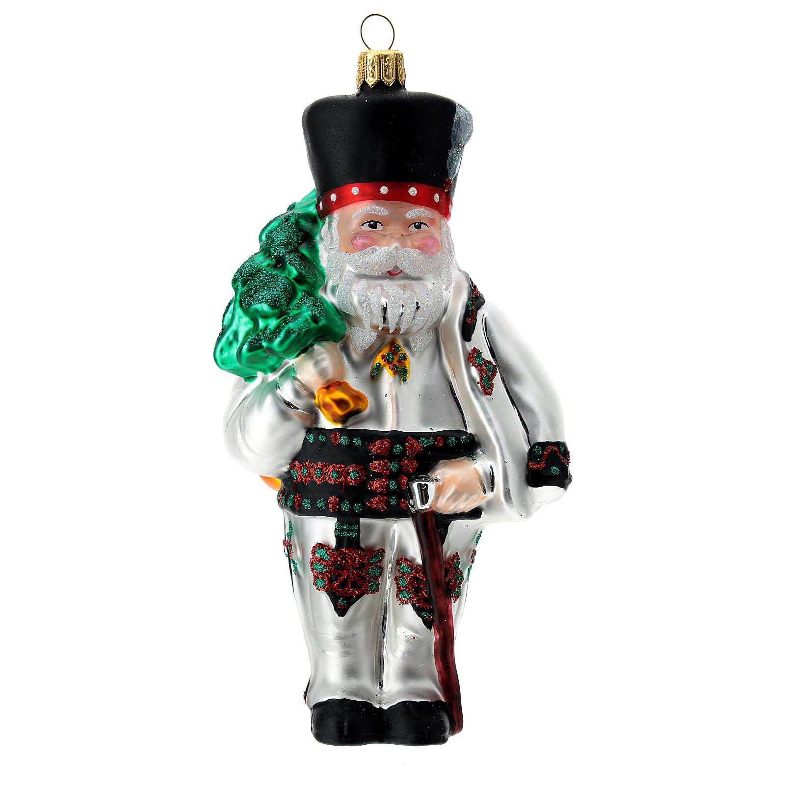 Polish Santa Claus blown glass Christmas ornament 4